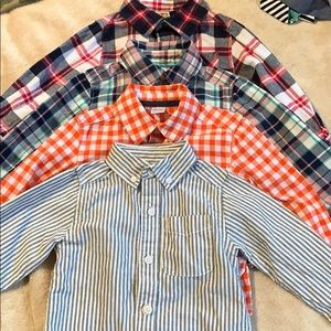 BUNDLE OF (4) LITTLE BOYS SZ 2T LONG SLEEVE SHIRTS
